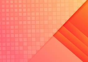 Fondo y textura de capas geométricas naranjas abstractas. vector