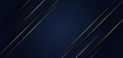 Abstract template blue geometric diagonal background with golden line. Luxury style. vector