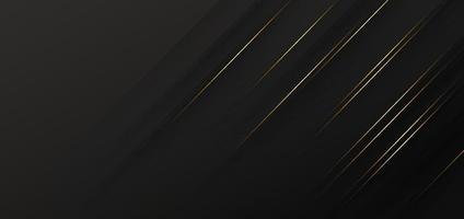 Plantilla abstracta fondo diagonal geométrico negro con línea dorada. estilo de lujo. vector