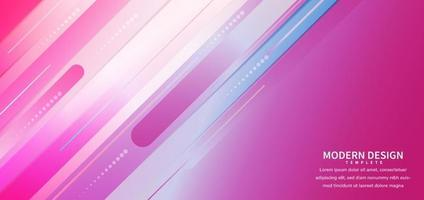 Abstract pink blue gradient diagonal geometric rounded shape overlapping background. Modern concept. vector