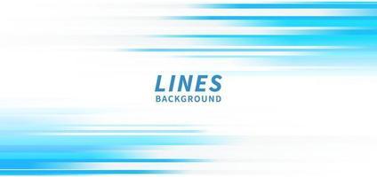 líneas horizontales abstractas de la raya azul clara sobre fondo blanco. vector