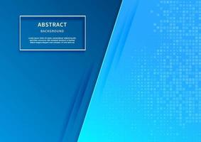Abstract 3D blue background with overlap layer with square pattern decor. vector
