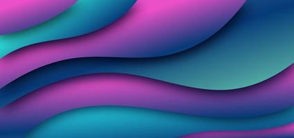 Abstract dark blue pink waves background. vector