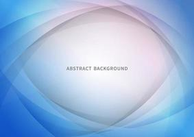 Abstract blue curve overlapping background. Modern style. vector