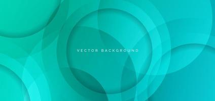 círculo abstracto superpuesto fondo degradado verde. diseño moderno. vector