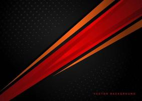 Template corporate concept red black orange and black contrast background. vector