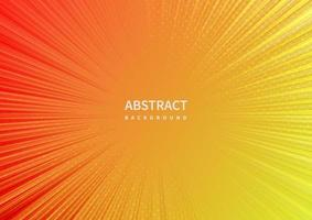Abstract zoom line on orange and yellow background. vector