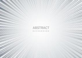 Fondo blanco gris abstracto con diseño de explosión de rayos de sol. vector