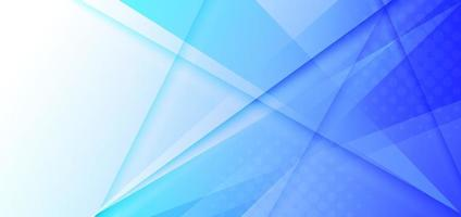Abstract white and blue gradient triangles overlapping background. vector