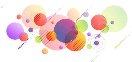 Abstract colorful color circle geometric design on white background. vector