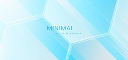Banner blue hexagon pattern background. Medical and science concept. vector