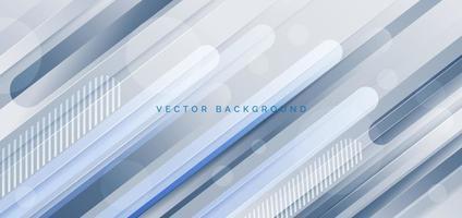 Resumen moderno azul blanco gris color diagonal geométrica líneas redondeadas formas de fondo. vector