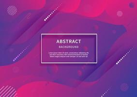 Abstract geometric background. Liquid shape. Minimal pattern. Blue and pink gradient colors design background. Modern concept with vibrant gradient. vector