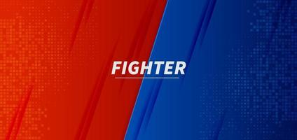 Versus vs fight battle red and blue background screen design. vector