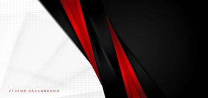 Template corporate concept red black grey and white contrast background. vector