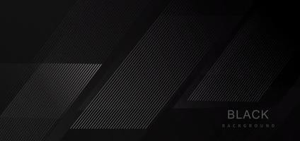 Fondo de línea de raya moderna geométrica de tecnología abstracta negra. vector