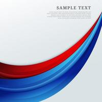 Abstract red and blue curves shape on white background. vector