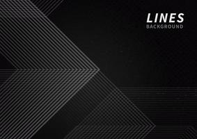 Abstract of grey stripes lines on black background with copy space for text. vector