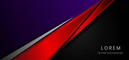 Template corporate concept red black purple and grey contrast background. vector