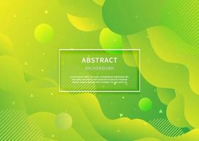 Abstract geometric background. Liquid shape. Minimal pattern. green gradient colors design background. Modern concept with vibrant gradient. vector