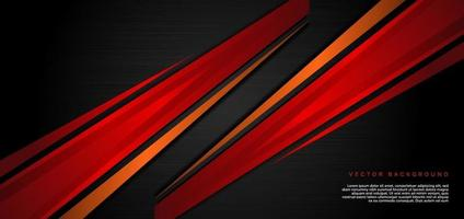 Template corporate concept red and orange contrast on black background. vector