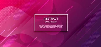 Banner design geometric purple pink gradient background with copy space for text. vector