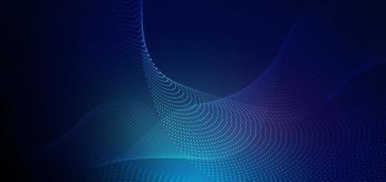 Abstract futuristic particle lines mesh on blue background with light effect. Technology concept.