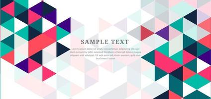 Template design abstract modern colorful triangles on white background with copy space for text. vector