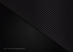 Abstract stripes silver lines diagonal overlap on black background. Luxury style. vector