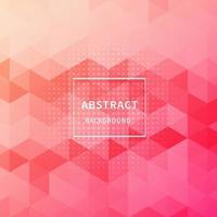 Fondo y textura geométricos abstractos del modelo del hexágono del color rosado del gradiente con el espacio de la copia. vector