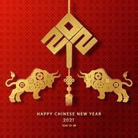 feliz año nuevo chino 2021 año del buey