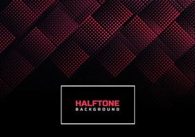 Abstract halftone lines diagonal red on black background. vector
