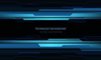tecnología abstracta circuito cibernético azul negro metálico luz potencia energía diseño moderno fondo futurista ilustración vectorial. vector