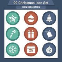 conjunto de iconos de navidad y año nuevo vector
