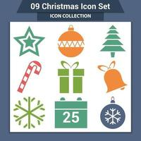 Christmas vector icons and new year decoration
