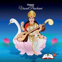 Vasant panchami celebration vector