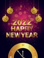 folleto de fiesta de celebración de feliz navidad y próspero año nuevo vector