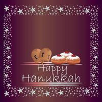 Happy hanukkah, jewish festival vector