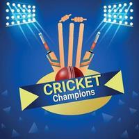 campeonato de la liga de cricket vector