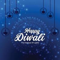 Happy diwali the festival of lights background vector