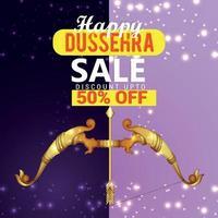 Happy dussehra with sale design vector