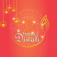 Happy diwali festival of light and background vector