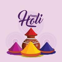 Happy holi celebration design concept vector