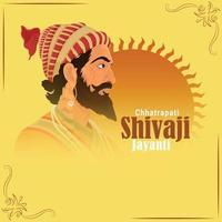Chhatrapati shivaji maharaj jayanti vector