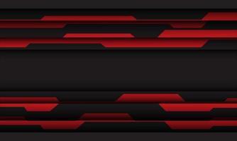 Ilustración de vector de fondo de tecnología futurista moderno diseño de espacio en blanco y geométrico cibernético gris rojo abstracto.