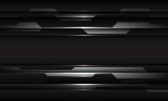 Ilustración de vector de fondo futurista de tecnología moderna de diseño cibernético geométrico negro gris abstracto.