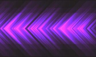 Energía de velocidad de flecha de luz violeta abstracta en diseño gris oscuro ilustración de vector de tecnología de fondo futurista moderno.