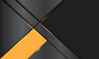 La bandera amarilla metálica gris abstracta se superpone con la ilustración de vector de fondo futurista moderno de diseño de espacio en blanco.