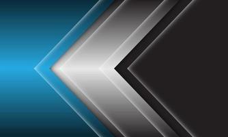 Ilustración de vector de fondo futurista moderno diseño de dirección de flecha azul gris negro abstracto.