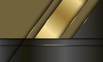 Ilustración de vector de fondo futurista moderno de lujo diseño de superposición metálico negro dorado abstracto.